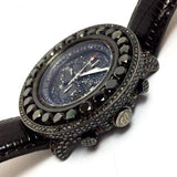 BREITLING 1884 Chronometre Automatic Steel Men's Watch 20 TCW Black Diamonds
