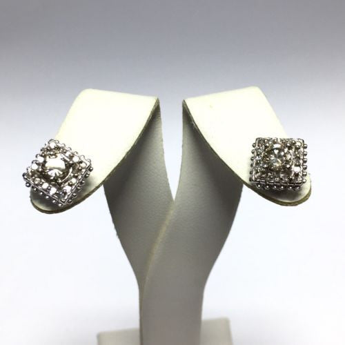 New 14K Solid White Gold DIAMOND Studs Earrings 1.15 TCW 4.2g