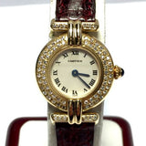 CARTIER COLISÉE 18K Yellow Gold Ladies Watch w/ Diamonds & Cartier Band In Box