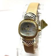 DAVID YURMAN 2 Tone Ladies Watch w/ DIAMONDS .925 Sterling Silver & 14K Gold