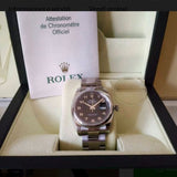 ROLEX OYSTER PERPETUAL DATEJUST Steel Men's/Unisex Watch w/ Box & Papers