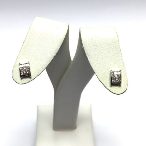 New 14K Solid White Gold DIAMOND Studs Earrings 0.23 TCW 1g