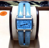 30mm ROGER DUBUIS 18K White Gold Ladies Watch w/ Original Blue Leather Band