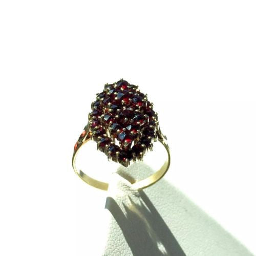 Stunning 14K Solid Yellow Gold Ring With RUBIES 4.8 TCW Size 7.75
