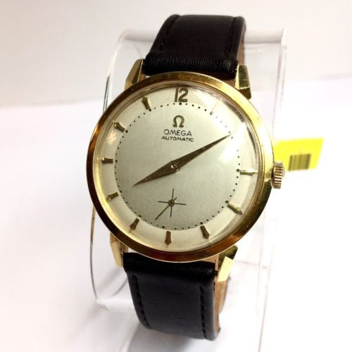 OMEGA 14K Yellow Gold Automatic Men's Watch in Box