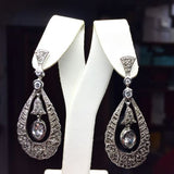 Gorgeous Sterling Silver EARRINGS, 14.1g
