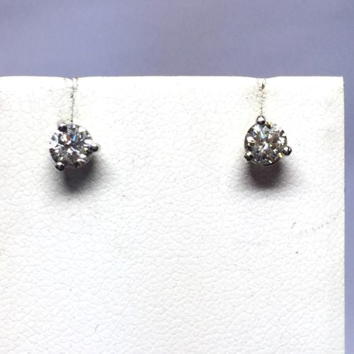 Platinum DIAMOND STUDS EARRINGS H Color SI Clarity 0.66 TCW