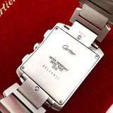 CARTIER TANK Stainless Steel Men's Watch in Mint Condition In Box