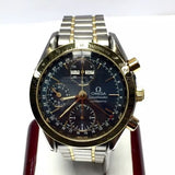 39mm OMEGA SPEEDMASTER Automatic 18K Yellow Gold SS Men's Watch w/ Tachymeter