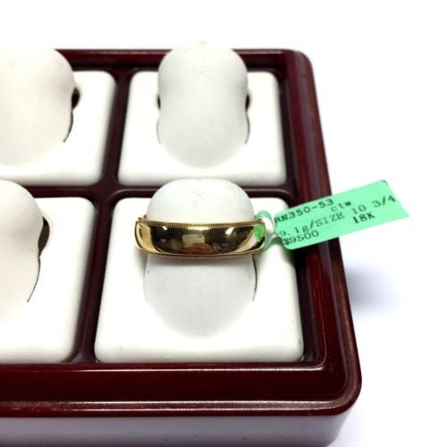 Authentic Tiffany Co 18k Yellow Gold Wedding Band Men S Ring Size