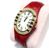 BERTOLUCCI SERENA 18K Solid Gold Ladies Watch w/ DIAMONDS In Box Has Papers