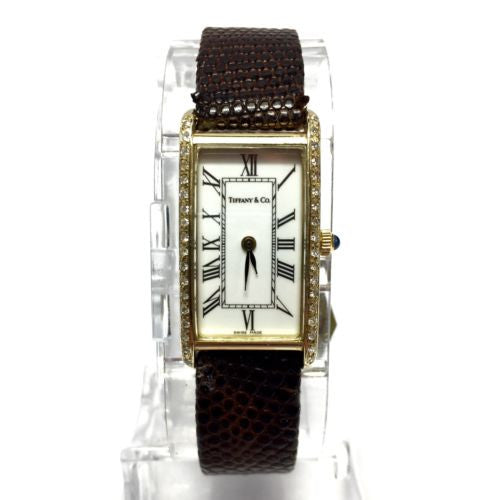 TIFFANY & CO. 14K Yellow Gold Ladies Watch w/ Diamond Bezel & TIFFANY & Co. Band