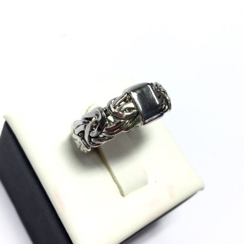 Sterling Silver MEN'S RING Stamped 925, Size 8.5
