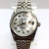 ROLEX OYSTER PERPETUAL DATEJUST QUICK Steel Men's/Unisex Watch w/ MOP Dial