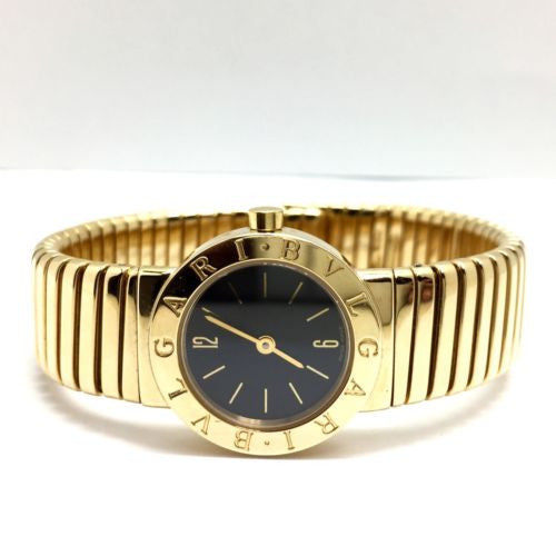 BVLGARI 18K Solid Yellow Gold Ladies Bracelet Wrist Watch in Box