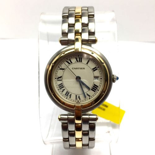 CARTIER Panthere 30mm Quartz 18K YG & Steel Watch in Box
