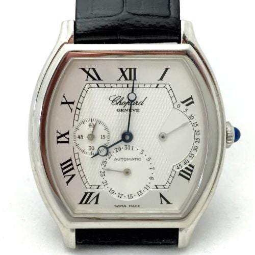 Collectible CHOPARD Platinum Automatic Men's Watch Chopard Leather Band