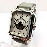 PERRELET Rectangle Royale Stainless Steel Men's Watch w/ Skeleton Back Case