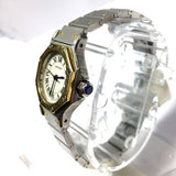 CARTIER OCTAGON 18K Gold & Stainless Steel Automatic Ladies Watch in Box