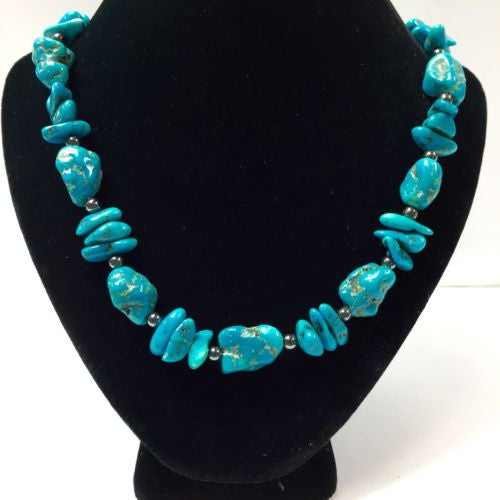 16.5 Inches Long  TURQUOISE NECKLACE