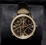 40.50mm JACOB & Co. 5 Time Zone SS Unisex Watch FACTORY DIAMONDS & Original Band