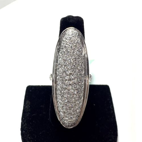 18K Solid WHITE GOLD RING w/ DIAMONDS 6 TCW, 30.6g