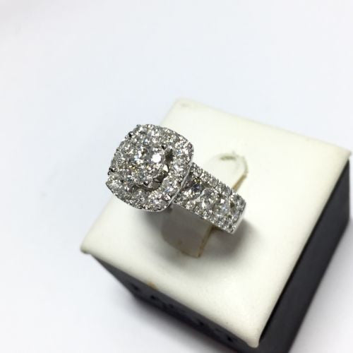 Gorgeous 14K White Gold DIAMOND 3.5 TCW RING w/ GAI CERTIFICATE