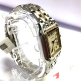CARTIER PANTHERE 2 Tone Ladies Watch 18K Yellow Gold & SS Polished In Box