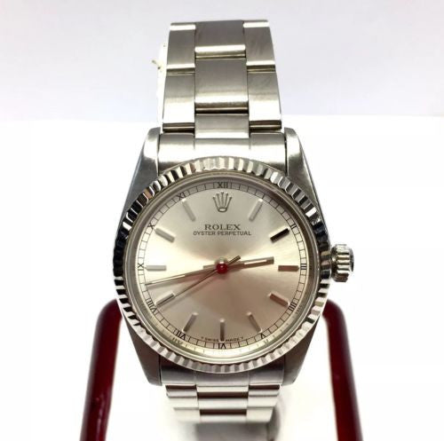 ROLEX OYSTER PERPETUAL Stainless Steel Ladies Watch with Roman Numerals In Box