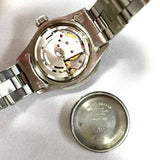 28mm ROLEX OYSTER PERPETUAL DATEJUST SS Ladies Watch Diamond Bezel & Black Dial