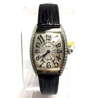 FRANCK MULLER CURVEX Stainless Steel Ladies Watch w/ Diamonds In Box