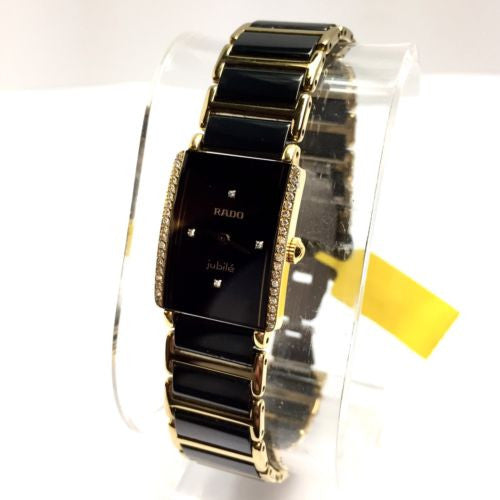 RADO DiaStar 18K G-P, High-Tech Ceramics & Titanium Ladies Watch Diamonds In Box