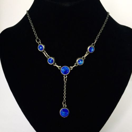 Blue Stone Fashion NECKLACE 16 Inches Long 13g