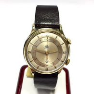 GÜBELIN 18K Heavy Gold-Plated & Stainless Steel Men's Watch w/ Brown Strap