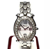 CHOPARD HAPPY SPORT SS Luxury Ladies Watch w/ 7 Floating DIAMONDS in Box