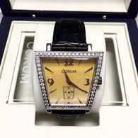 CORUM TRAPESE Stainless Steel Ladies Watch w/ DIAMONDS In BOX