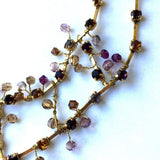 Gorgeous Beaded CLUSTER NECKLACE 12 Inches Long