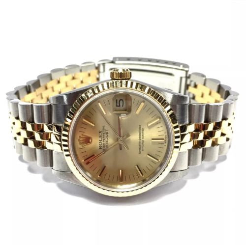 30mm ROLEX OYSTER PERPETUAL 2 Tone 18K Yellow Gold & SS Ladies Watch In Box