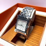 HERMÈS Stainless Steel Unisex Watch w/ Silver Dial In Box Mint Condition