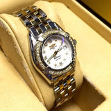 BREITLING 1884 Callistino 2 Tone Ladies Watch w/ MOP Factory Diamond Dial