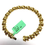 Authentic TIFFANY & Co. 18K Yellow Gold Ladies BRACELET 7.5 Inches Long, 31.6g.
