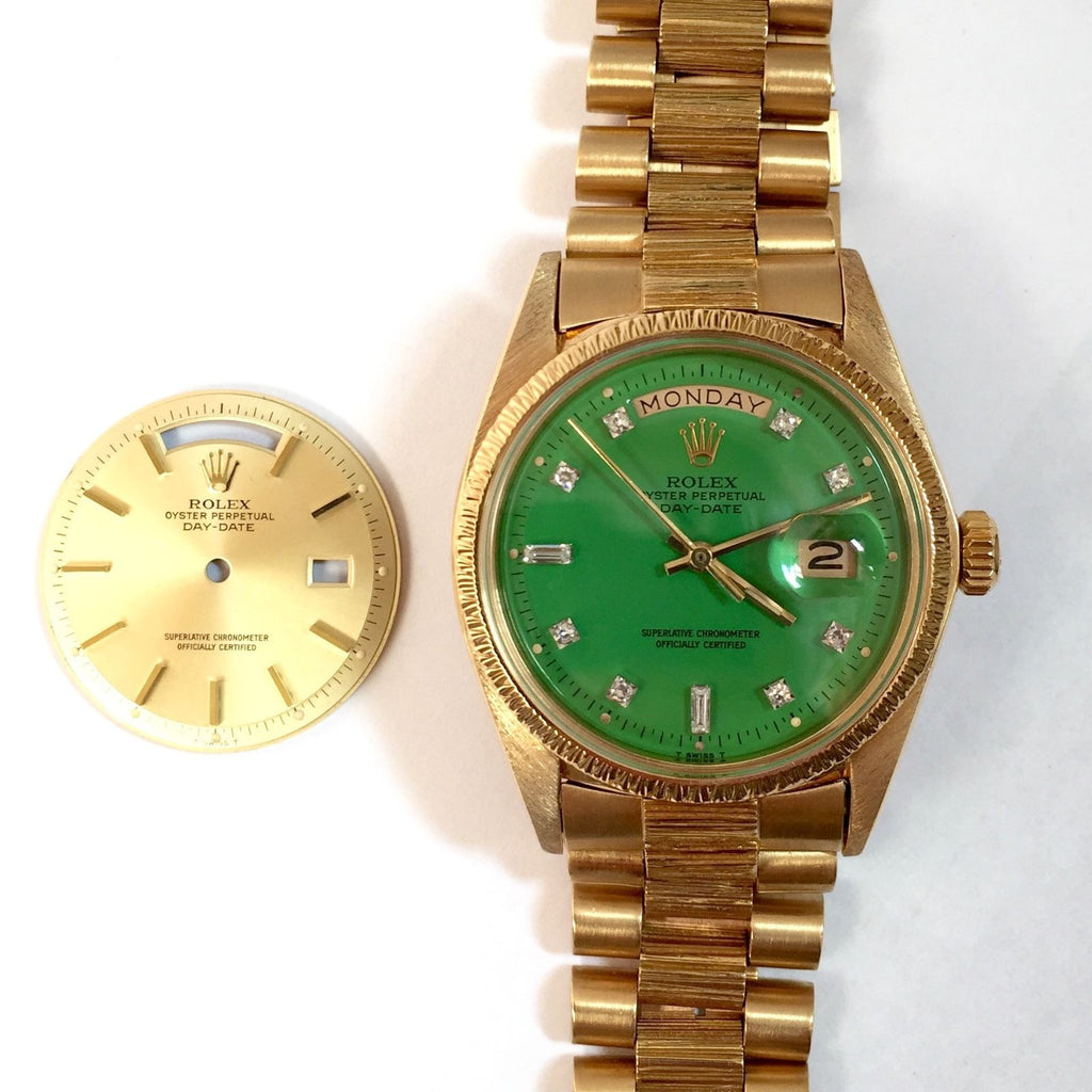 0ba22feaebc ROLEX OYSTER PERPETUAL DAY-DATE 18K Gold w  2 AUTHENTIC DIALS Men s Unisex  Watch – NATILUXIA