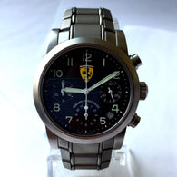 38mm GIRARD-PERREGAUX FERRARI Chronograph Stainless Steel Men's Watch In Box