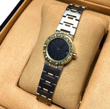 BVLGARI DIAGONO 2 Tone Luxury Ladies Watch DIAMONDS 18K Gold & SS in Box