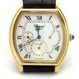 CHOPARD 18K Yellow Gold Men's Watch w/ Brown Alligator Leather Band in Box