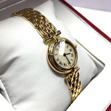 CARTIER 18K Solid Yellow Gold Ladies Watch In Box