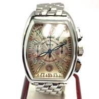 FRANCK MULLER CONQUISTADOR Chronograph Stainless Steel Men's Watch In Box