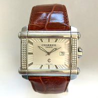 CHARRIOL Quartz 43mm Steel Men's Watch FACTORY DIAMOND Bezel