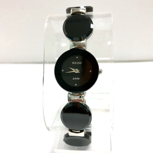 RADO JUBILÈ Steel & Black High-Tech Ceramics Bracelet Ladies Watch
