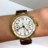 UNIVERSAL WATCH Chronograph Telemeter 18K Yellow Gold Men's Watch